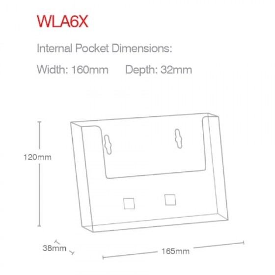 a6-landscape-wall-mounted-holder-wla6x-line-drawing