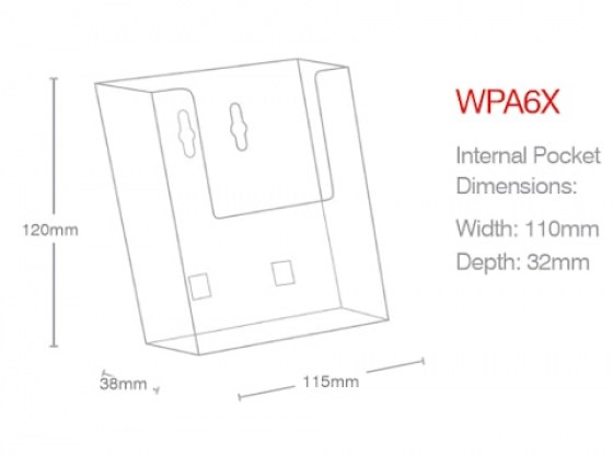 a6-portrait-wall-mounted-holder-wpa6x-line-drawing