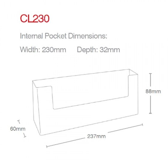 dl-landscape-counter-holder-cl230-line-drawing