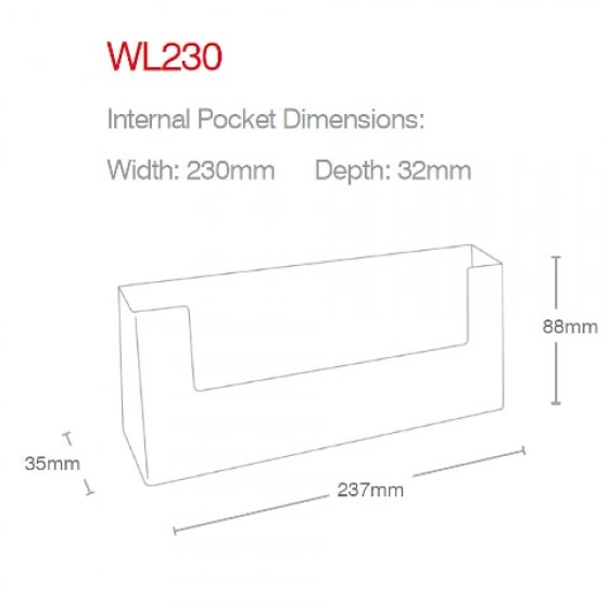dl-landscape-wall-mounted-holder-wl230-line-drawing