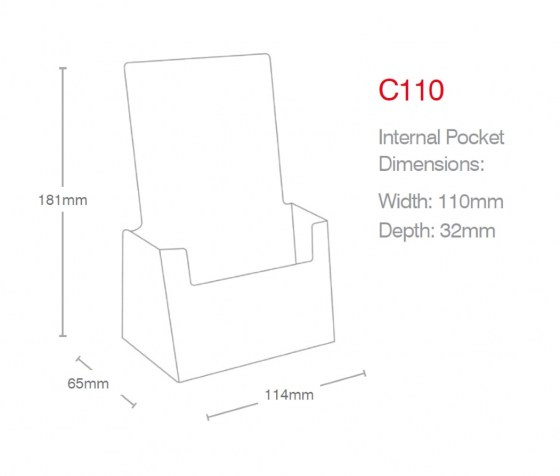 dl-portrait-counter-holder-c110-line-drawing