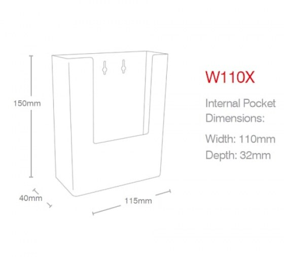 dl-portrait-wall-mounted-holder-w110x-line-drawing